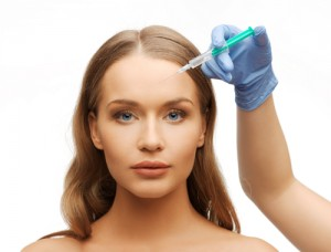 Female receiving Botox® injection